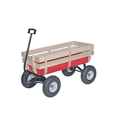 NEW! Bit Foot All Terrain Wagon w/ Wood Railing Red Off Road Childrens Kids