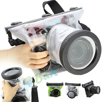 20M Underwater Waterproof Housing Pouch Case Bag Canon Nikon DSLR Diving Surfing