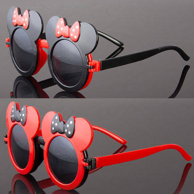 Vintage Round Mouse ears Sunglasses For Girls Kids Child Toddler Baby Driving - Sunglasses For Kids