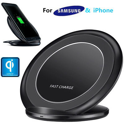 Universal Fast Qi Wireless Charger Stand Dock For Cell Phone Samsung S8 S9 Note8