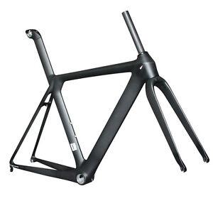 2014-56cm-AERO-Carbon-Road-Bike-Frame-Intergrated-Seatpost-Fork-Headset-Seatmast