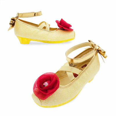 NWT Disney Store Belle Costume Shoes Many Size Girl Princes Beauty and the Beast (Belle Disney Shoes)