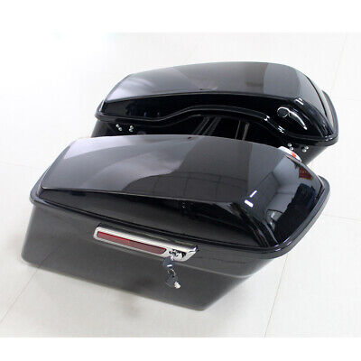 Painted Hard Saddle Bags Saddlebags For Harley-Davidson Touring Models 2014-2019