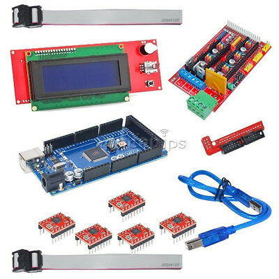 3d Printer Kit Reprap Prusa I3 Hsg Ramps 1.4 Mega 2560 A4988 Lcd 2004 Display W