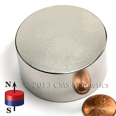 N45 2.5x1 Super Strong Ndfeb Neo Neodymium Disk Magnet 4 Count
