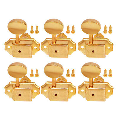 Electric Acoustic Guitar String Tuning Pegs Tuners Machine Heads Gold 6R Inline