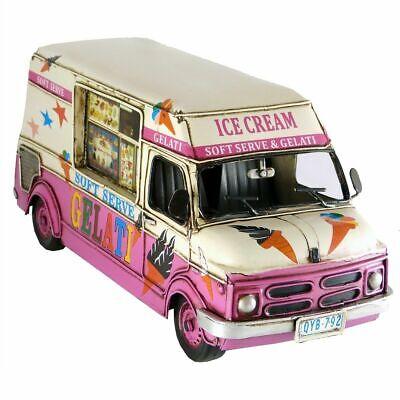 Ice Cream Truck Van With Music Box Handmade Replica Collectable Decor Metal Cream Music Box