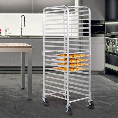 20 Pan Commercial Aluminum End Load Restaurant Bakery Bun Sheet Pan Speed Rack