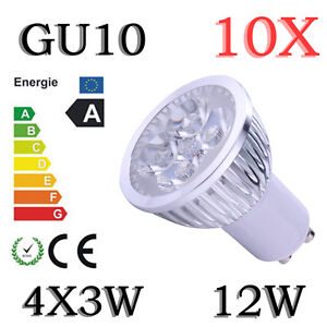 10X High Power Warm White 12W GU10 LED Ultra Bright SMD Spot Light Lamp Bulb