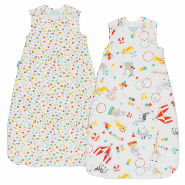 The Gro Company Roll Up Day &Night Baby Sleeping Grobag 1.0/2.5 Tog 6-18m 2-Pack