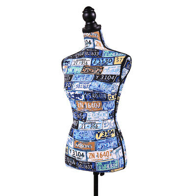 Female Mannequin Torso Dress Form Display W/Tripod Stand Designer Pattern ()
