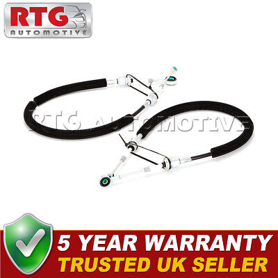 2x Gear Selector Linkage Cables Fits Fiat Grande Punto (2005-2011) 1.3 D
