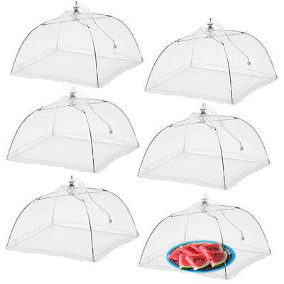 """6pk Pop-Up Outdoor Food Cover Umbrella 17"""" Mesh Tent Protectors Bugs BBQ Picnics"""