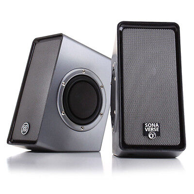 USB Powered Computer Stereo Speaker System with Dual Passive Subwoofers