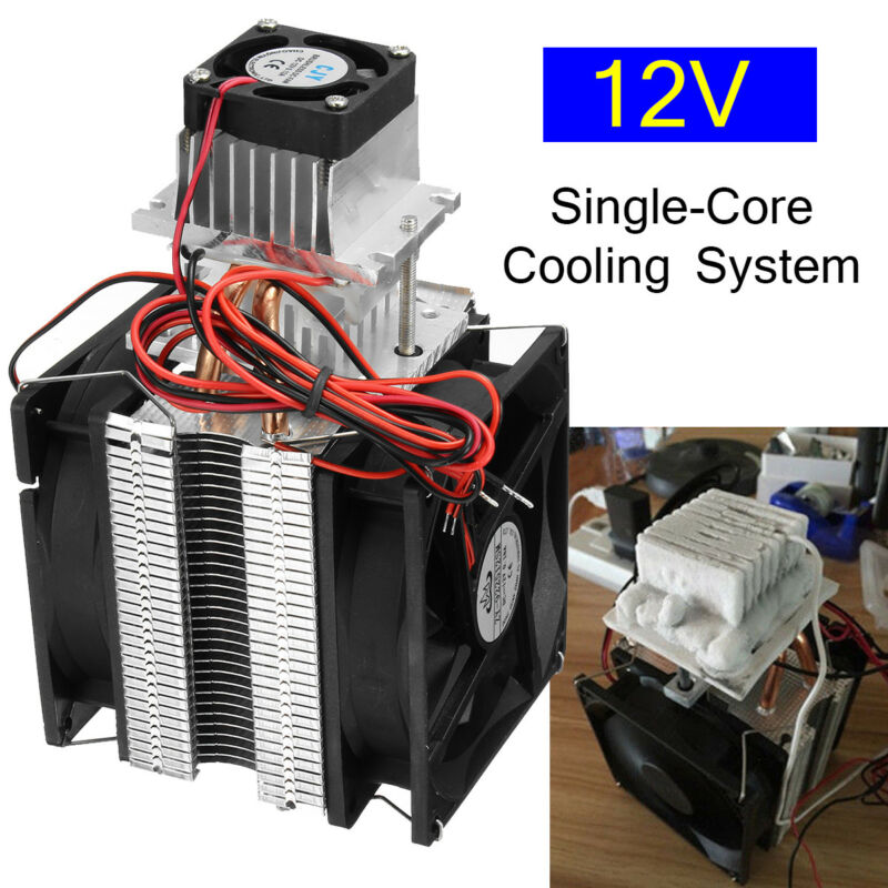 12V Thermoelectric Peltier Refrigeration DIY Water Cooling System Cooler 80W