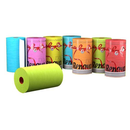 Renova Luxury Colored Paper Towel Jumbo Rolls 2-Ply-120 Sheets