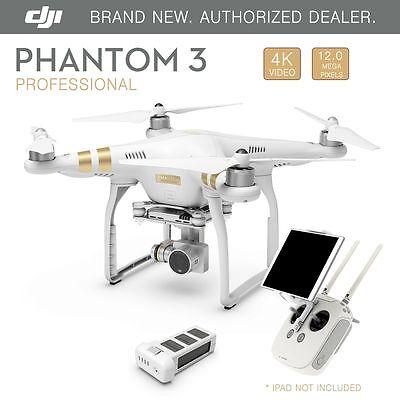 DJI Phantom 3 Professional GPS QuadCopter Drone 4K 12 Megapixel HD Camera - New
