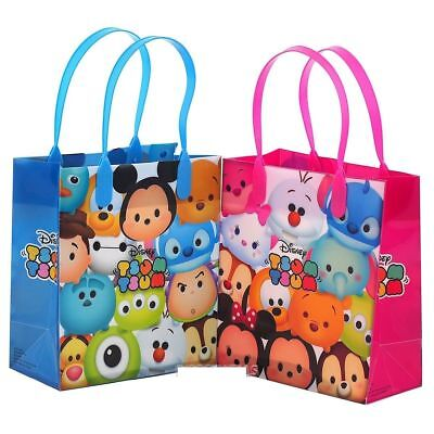 """New Party Favor Disney Tsum Tsum Kids 6"""" Party Gift Bag- 12"""