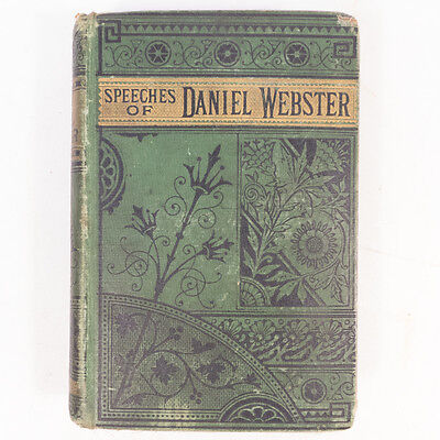 A Collection Of Speeches Of Daniel Webster Hardcover Book