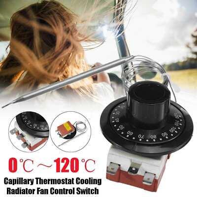 Universal Capillary Thermostat Cooling Radiator Fan Control Switch TS-120SR UK