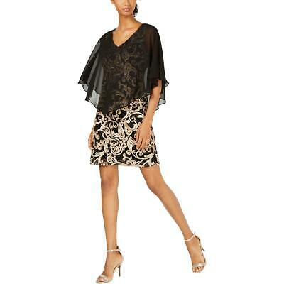womens lace mini party capelet dress bhfo