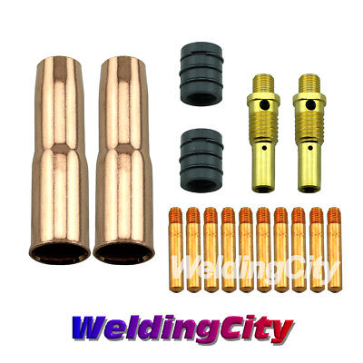 Mig Welding Gun Kit .035 For Lincoln Tweco 300400 24a Nozzle 52fn Diffuser M19