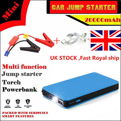 12V 20000mAh Multi-Function Car Jump Starter Pack Booster Charger Battery Power