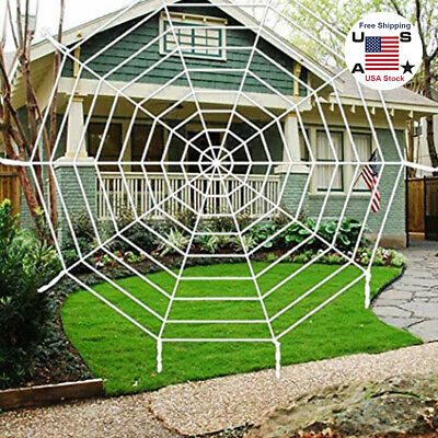 Spider Themed Halloween Party (12ft Large Spider Web Fake Stretch Cobweb Halloween Themed Parties Decoration)