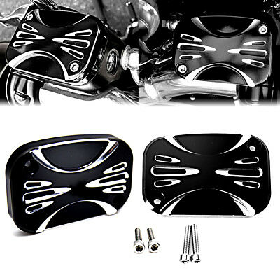(US ShallowCut Brake Master Cylinder Cover For Harley Touring Street Glide 08-16)