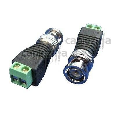 1Pc Connector BNC Male Plug Clamp RG58 RG142 LMR195 RG400 Cable Straight SS