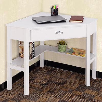 Corner Computer Desk Laptop Column Table Wood Workstation Home Office Furniture