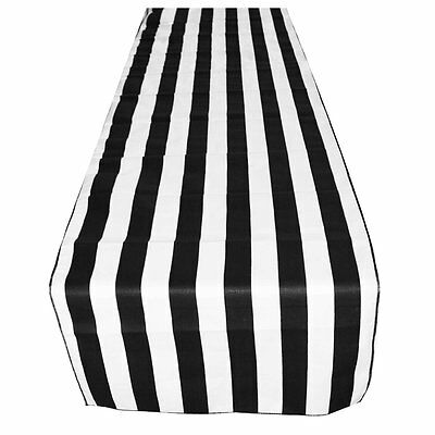 "lovemyfabric Poly Cotton 1 Inch Black & White Striped Table Runner 12""X108""Inch for sale  Rowland Heights"