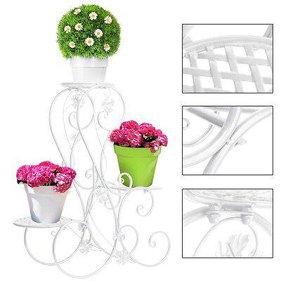Pflanzentreppe Blumenregal Blumen Garten Regal Blumenständer Gartenregal Weiß