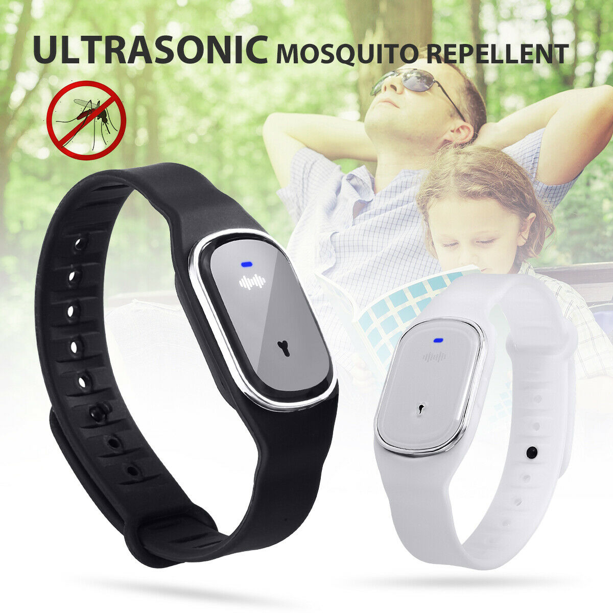Ultrasonic Anti Mosquito Insect Pest Bug Repellent Bracelet