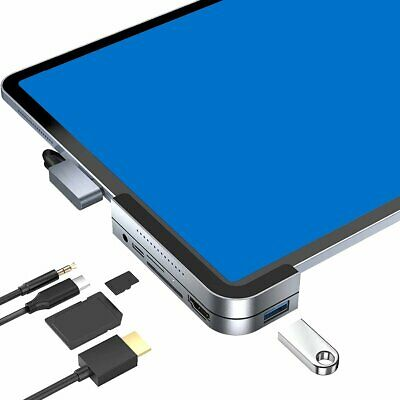USB C Hub for iPad Pro 2020-2018, MacBook Pro, HDMI, Audio,Micro SD/SD, USB, PD