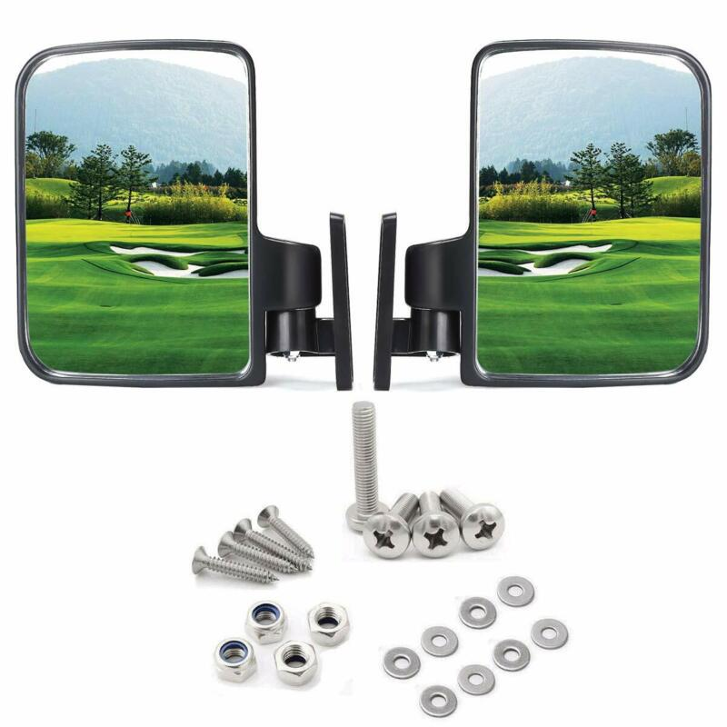 10L0L Golf Cart Mirrors, Side Rear View for Club Car Ezgo Yamaha Carts US STOCK