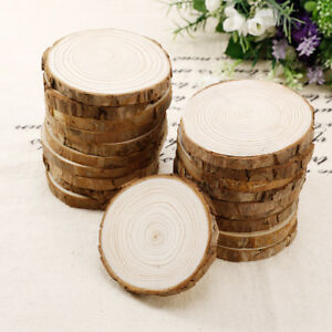 20 Pcs Wood Slice Tree Trunk Craft Rustic Wedding Centerpieces Table Decor  8 9cm