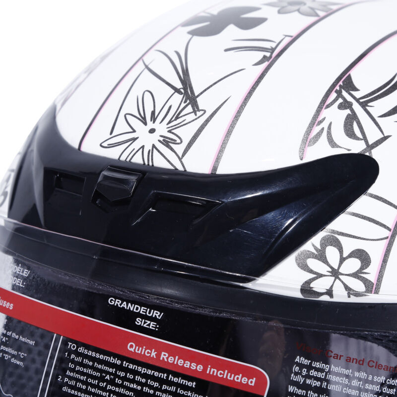 DOT Adult Motorcycle Butterfly Flip Up Full Face Street Dirt Bike Helmet S M L