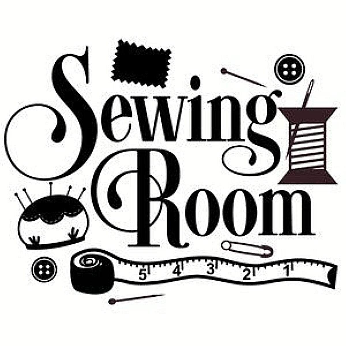 sewing room vinyl design wall art sticker