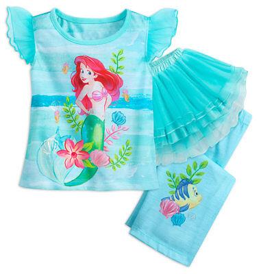 Disney Store Ariel Deluxe Tutu Sleep Set For Girls 2018 New