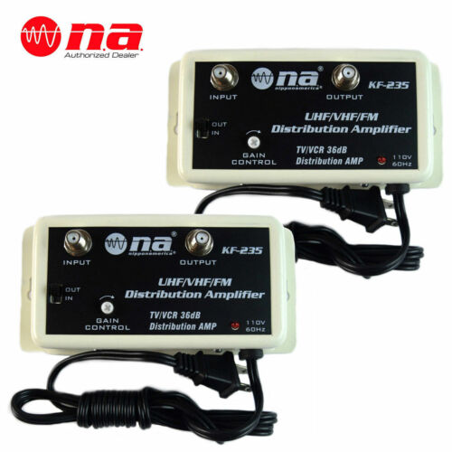 2 LOT PACK 36 DB CABLE COLOR TV ANTENNA BOOSTER  SIGNAL AMPLIFIER 36DB HDTV AMP