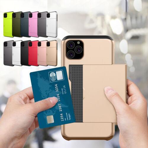 Shockproof Wallet Credit Card Pocket Holder Case For iPhone