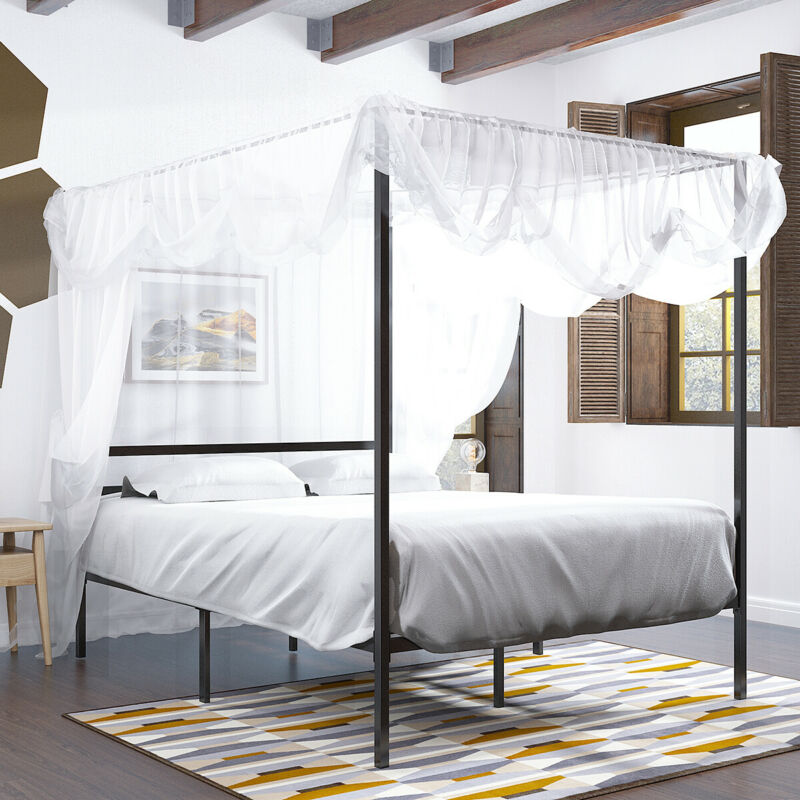 """YITAHOME Canopy Bed Platform 14"""""""