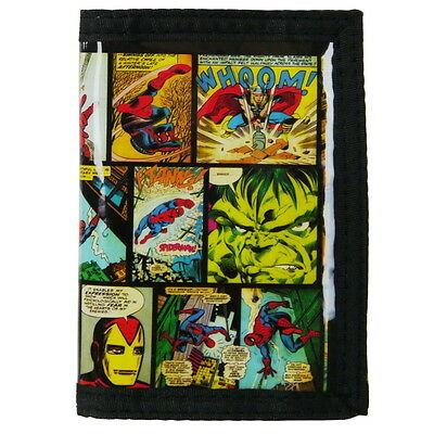NEW OFFICIAL Marvel Comics Boys Kids Coin Pocket Money Wallet