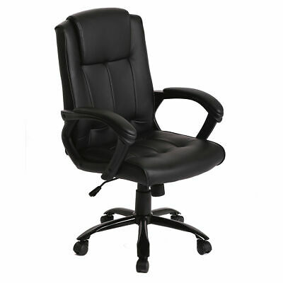 Pu Leather Ergonomic Office Executive Computer Desk Task Office Chair T30 Black
