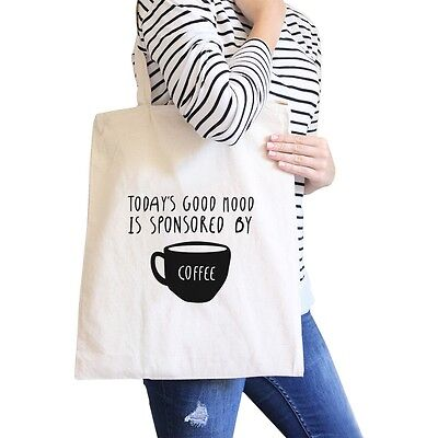 Sponsored By Coffee Natural Canvas Bags Christmas Gift For - Bags For Christmas