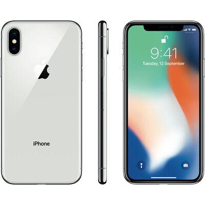 APPLE IPHONE X 64DE SILBER SILBER WEISS NEUE GARANTIE 24 MONTHS NO BRAND NEW