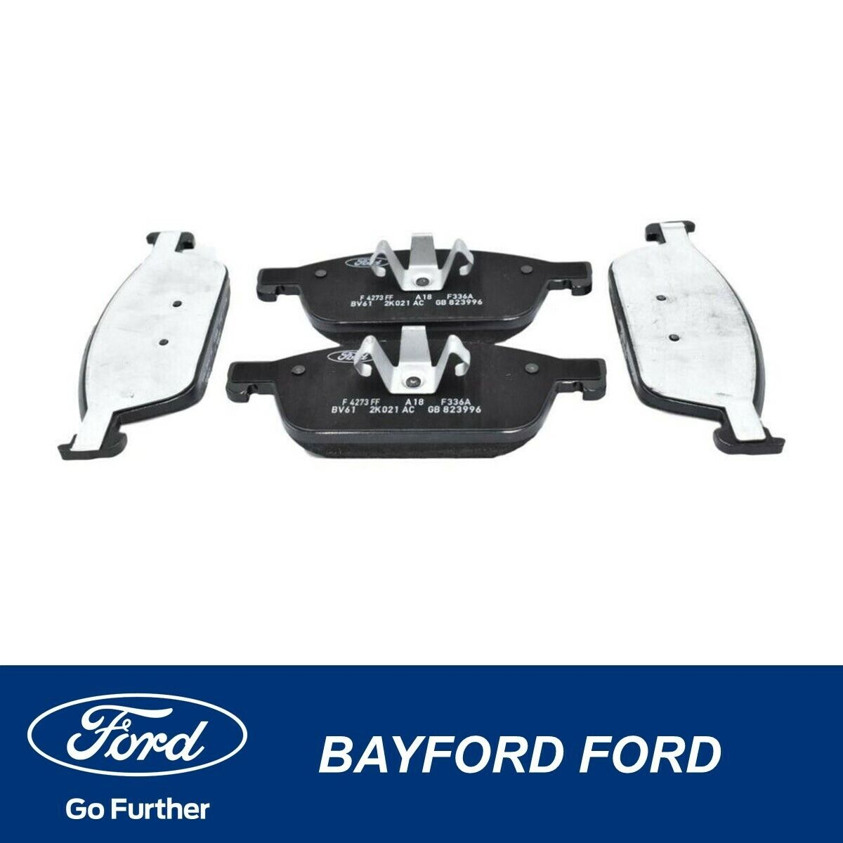 Front And Rear Ceramic Brake Pads For 2016-2018 Ford Focus RS