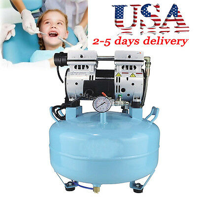 130lmin Noiseless Oil Free Oilless Air Compressor 30l For Dental Chair Fda Usa