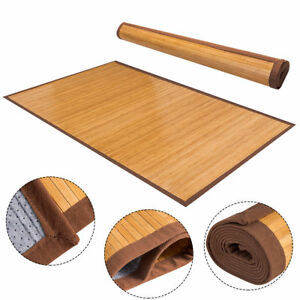 5' X 8' Bamboo Area Rug Floor Carpet Natural Bamboo Wood Indoor Outdoor New